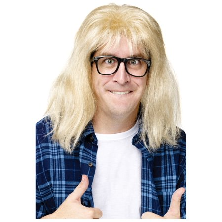 Saturday Night Live Garth Algar Wig and Glasses Adult Halloween Accessory - Live Halloween Backgrounds