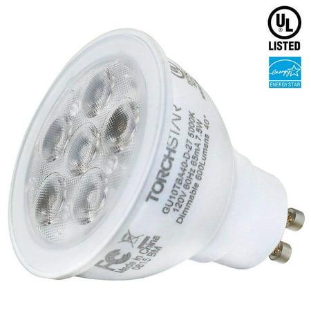 Torchstar 7 5w Mr16 Gu10 Led Bulb Light Bulbs Energy Star Dimmable Night For Track Lighting Recessed