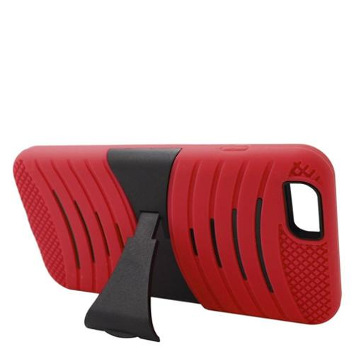 Insten Wave Dual Layer Hybrid Case with stand For Apple iPhone 6s Plus / 6 Plus - Red/Black