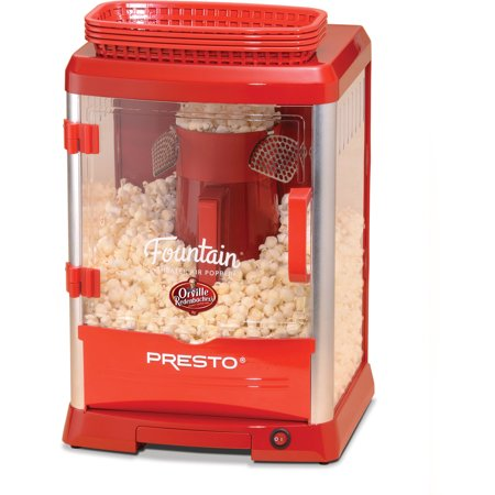 Popcorn Machines Presto Fountain Theater Hot Air Popper Red