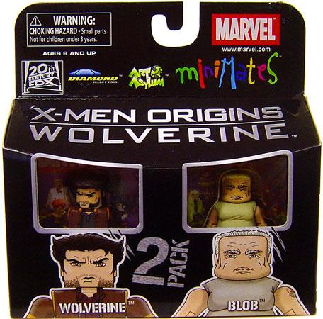 Marvel X-Men Origins Minimates Series 26 Wolverine & Blob Minifigure 2-Pack