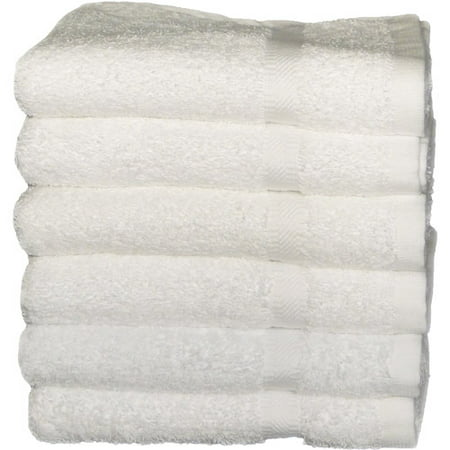 "Mainstays 24"" x 44"" White Bath Towel, 1 Each"