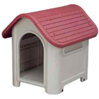 Indoor Outdoor Red Dog House Small to Medium Pet All Weather Doghouse Puppy Shelter