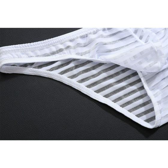 2e86a71c4b41d ZAXARRA - Ice Silk Sexy Men Briefs Elastic Thongs G-String Bikini Swimwear  Underwear Black L - Walmart.com