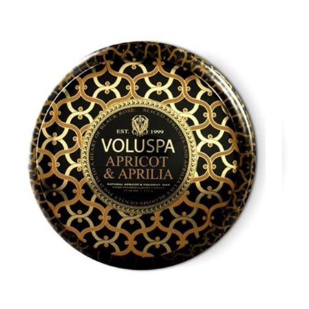 Voluspa Apricot (Voluspa Apricot and Aprilia 2 Wick Metallo Candle Tin Maison Noir 11 oz )