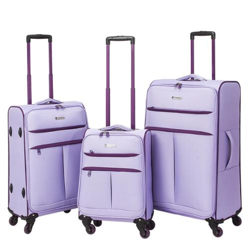 Traveler's Club Transcend 3-piece Super-Lite Two-Toned Spinner Luggage Set Lavender/Purple