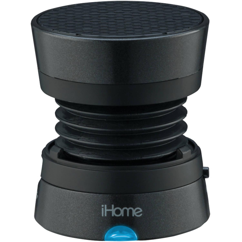 iHome Rechargeable Mini Speaker, Black
