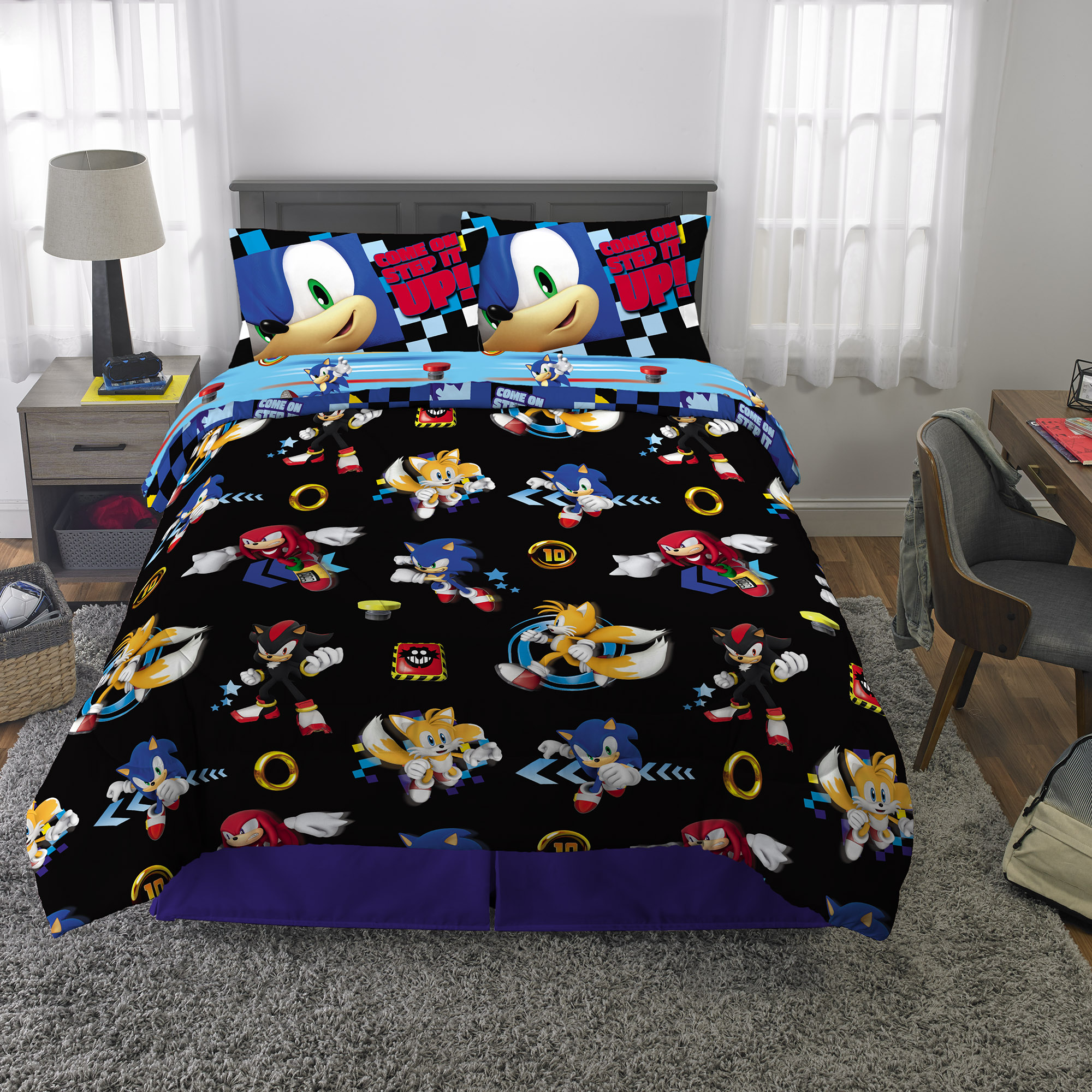 Sonic The Hedgehog Bed In A Bag, Kids Bedding Bundle Set