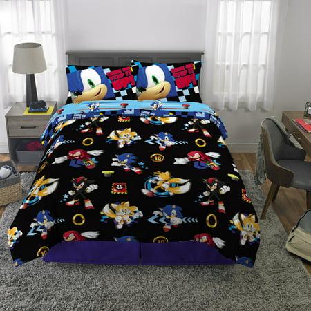 Sonic The Hedgehog Bed In A Bag Kids Bedding Bundle Set