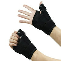 Houseables Thumb Brace Stabilizer Splint Spica Wrist Guard, Reversible, Single (1), One Size, Carpal Tunnel, Right and Left Hand, 3 Straps Adjustable, Fits Around Wrist 5.5 - 10.5 Inches