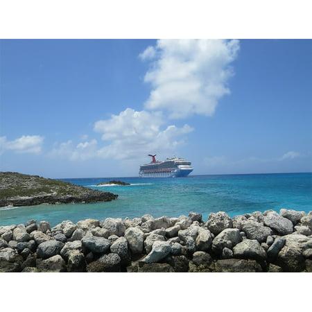 LAMINATED POSTER Cruise Ship Half Moon Cay Bahamas Poster Print 11 x 17