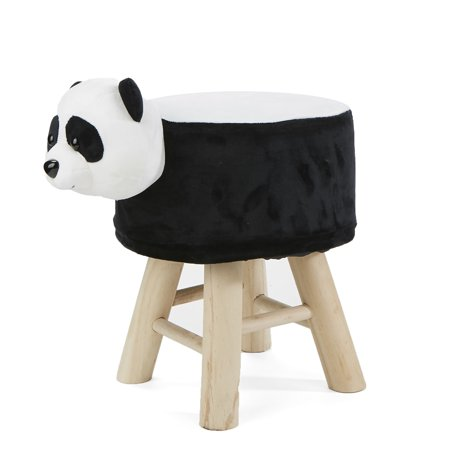Awe Inspiring Mind Reader Childrens Favorite Panda Animal Stool Chair Ottoman Foot Rest Black Gmtry Best Dining Table And Chair Ideas Images Gmtryco