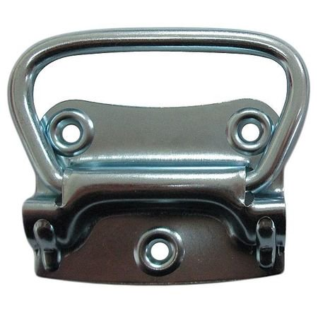 ZORO SELECT 1WAF8 Chest Handle, Steel, 2 3/4 In L, Zinc, Unthr. Through Holes