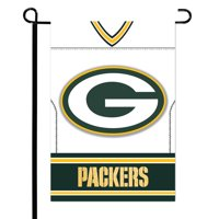"Green Bay Packers 12.5"" x 18"" Double-Sided Jersey Foil Garden Flag - No Size"