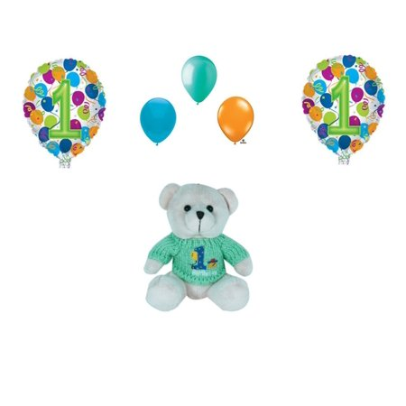 1st Birthday Stuffed Teddy Bear Party Balloons Decoration Supplies Cake Topper](Cake Stuff)