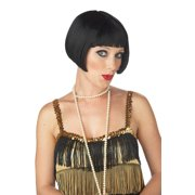 Flirty Flapper Costume Wig - Black