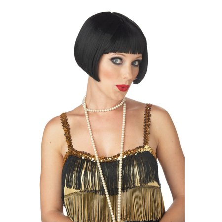 Flirty Flapper Costume Wig - Black - Flapper Wig