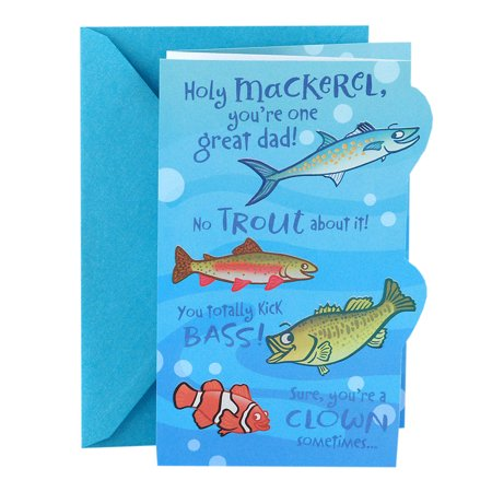Hallmark Funny Father's Day Card (Great Dad Fishing Puns) - Father's Day Diy
