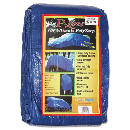 Anchor Brand® Multiple Use Tarpaulin, Polyethylene, 40 Ft X 60 Ft, Blue