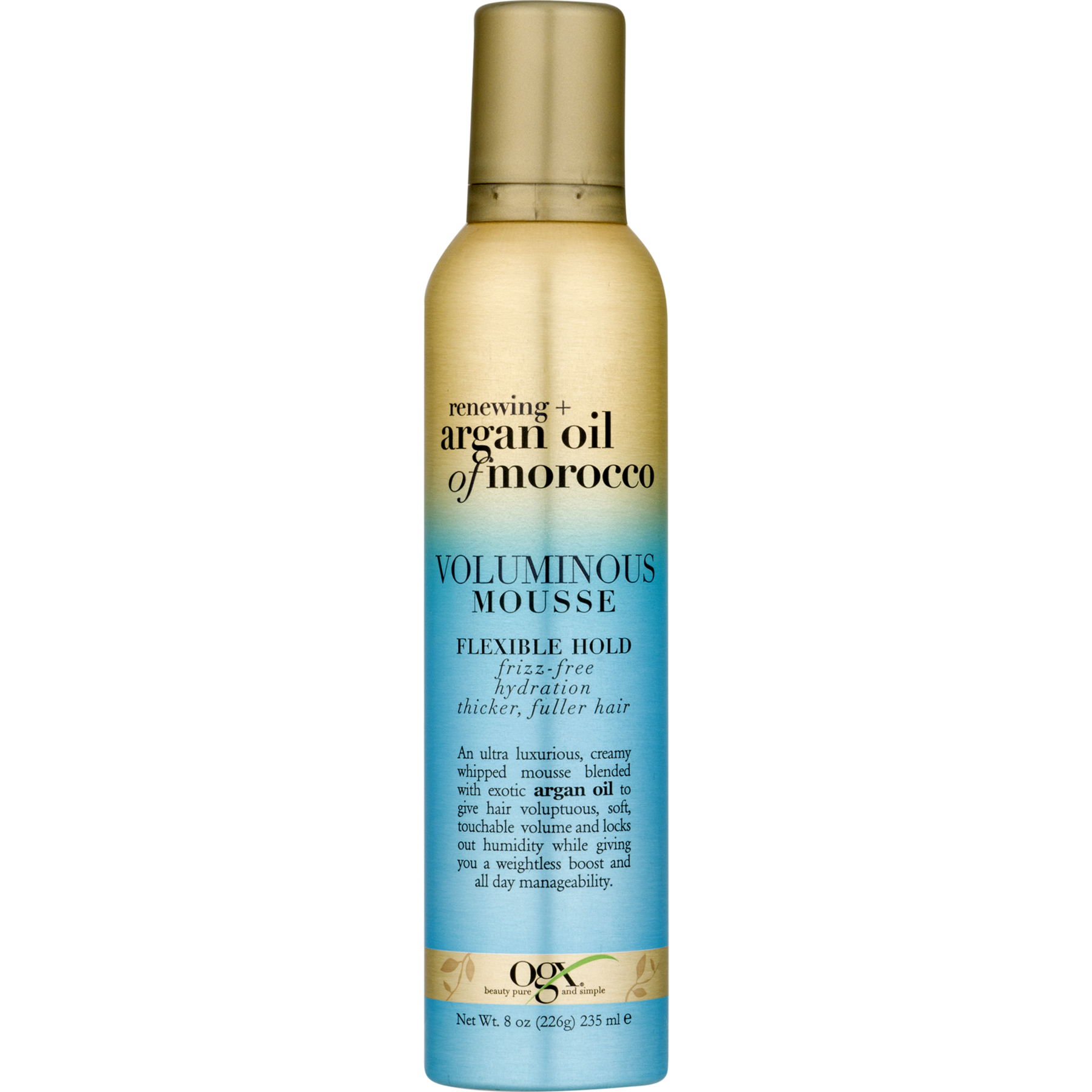Ogx Renewing Argan Oil of Morocco Voluminous Mousse 8 oz. Pump