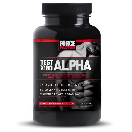 Force Factor Test X180 Alpha Testosterone Booster, 120 Ct