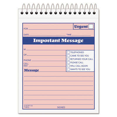 Telephone Message Book with Fax/Mobile Section TOP4010