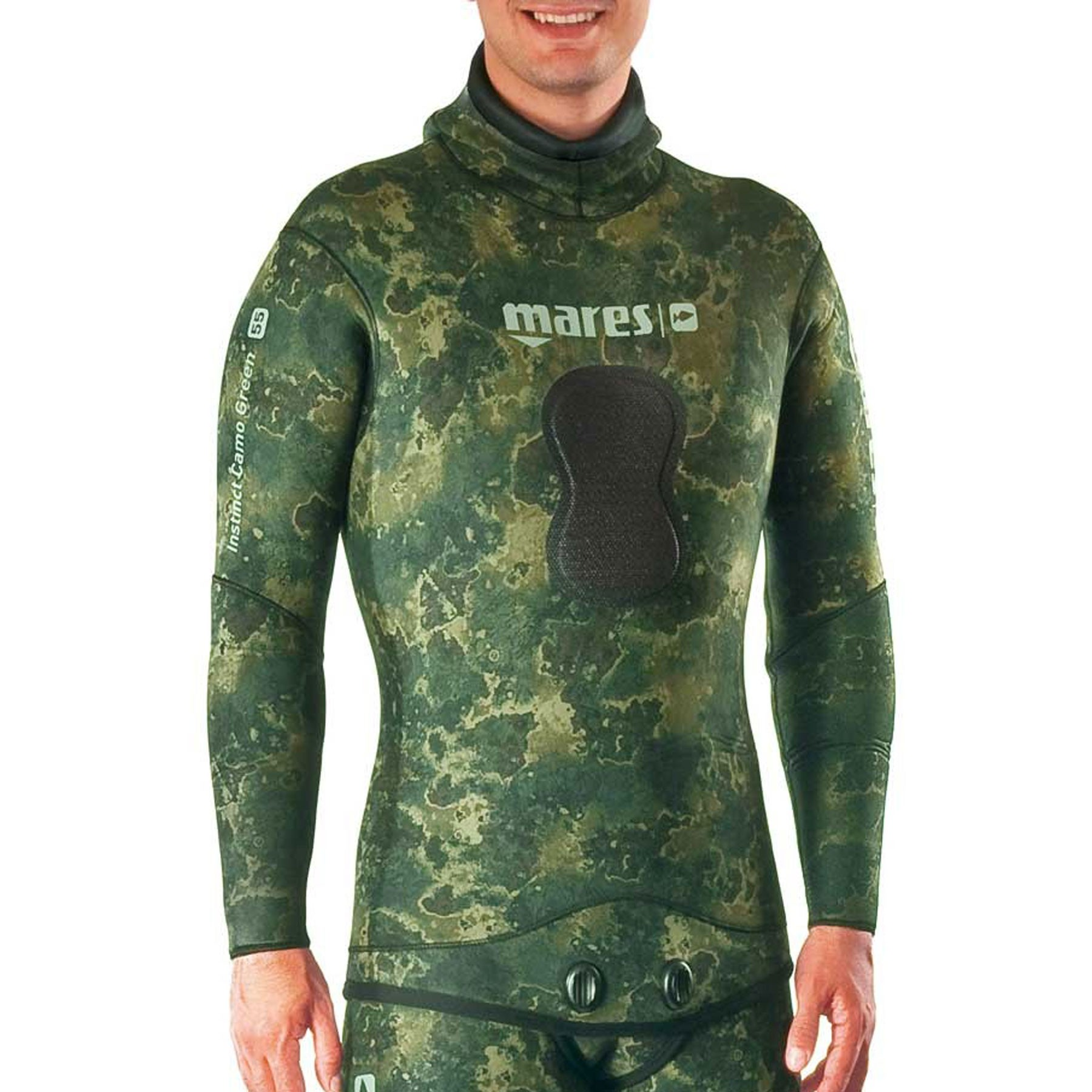 Mares Instinct Camo Green 55 Scuba Diving Wetsuit Jacket