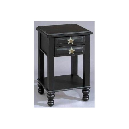 Image of Stars 2 Drawer Nightstand (Antique Black)