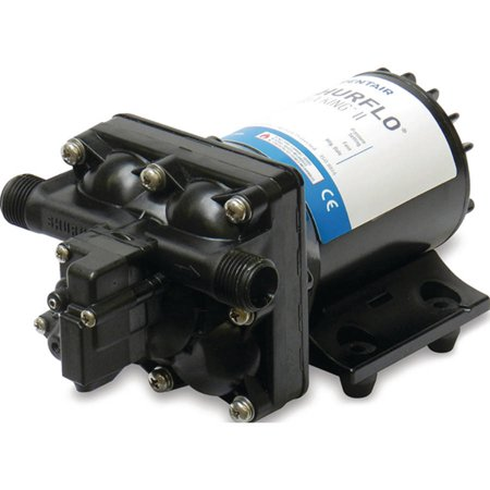 Shurflo Water Pump - Shurflo Aqua King II Black 55 PSI 3 GPM Automatic Fresh Water Pump