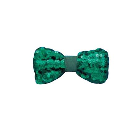 Green Sequin St. Patrick's Day Bow Tie