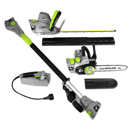 Earthwise CVP41810 4-in-1 corded Multi-Tool 4.5 amp Pole Hedge Trimmer/handheld hedge trimmer & 7 Amp Handheld ChainSaw/pole saw ()