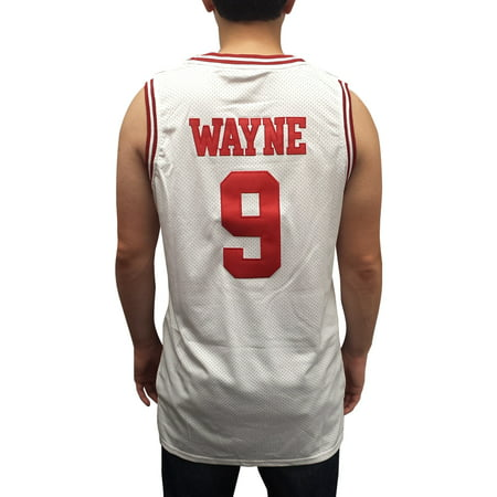 c113511f0c4a Dwayne Wayne 9 Hillman College White Basketball Jersey A Different World  Theater - Walmart.com