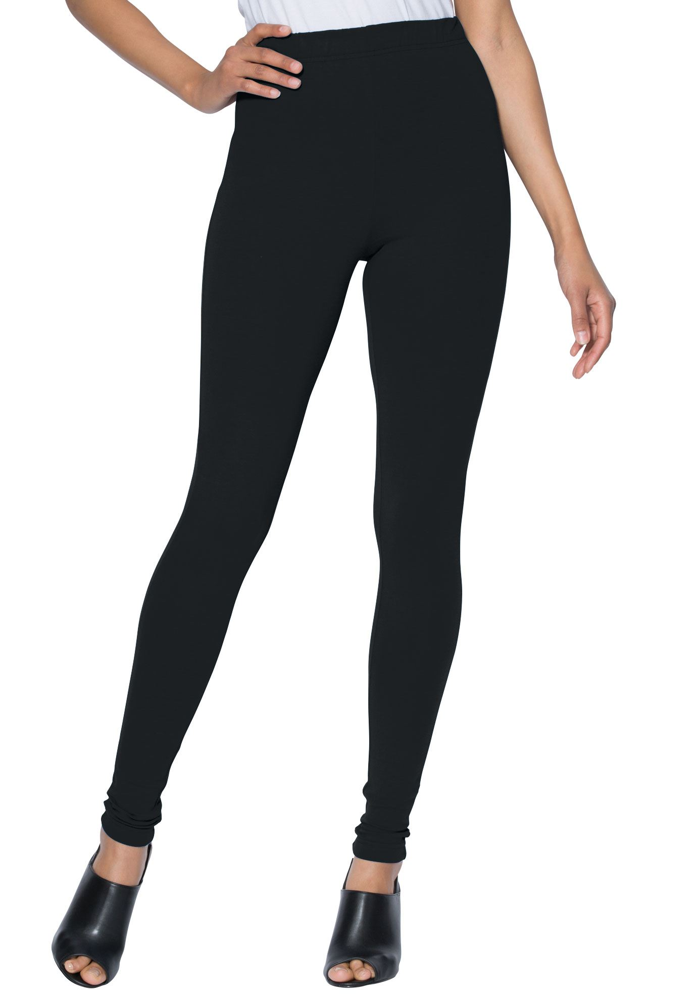 Roaman's Plus Size Tall Essential Stretch Legging