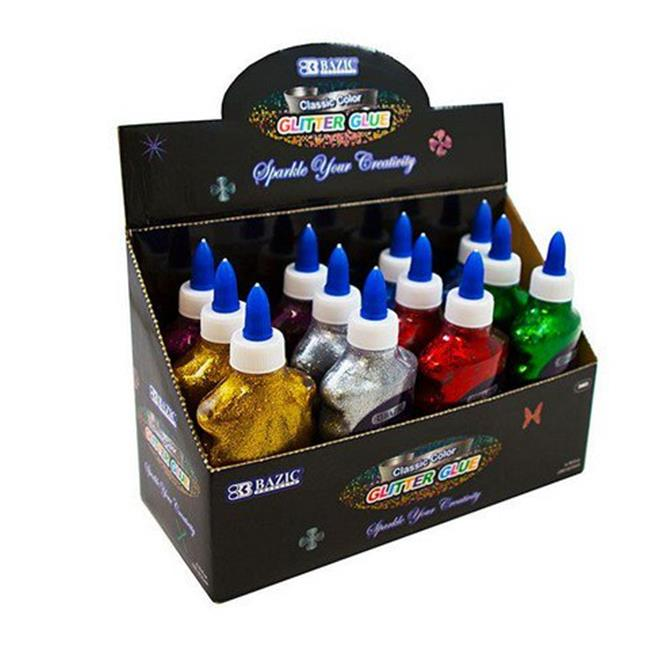 Bazic 3465   6.76 Oz. (200 mL) Classic Color Glitter Glue Pack of 12 - image 1 of 1