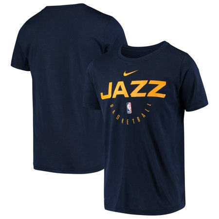 official photos dc278 16f0a Utah Jazz Nike Youth Practice Logo Legend Performance T-Shirt - Navy