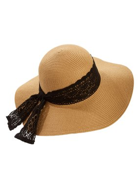 0f8065c4fdf903 Product Image Time and Tru Women s Lace Trim Floppy Hat