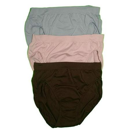 1ba0aa2c34 Bali - Bali Women's Comfort Revolution High-Cut Panties,  Brown/BlushingPink/Blue, 8/9 - Walmart.com