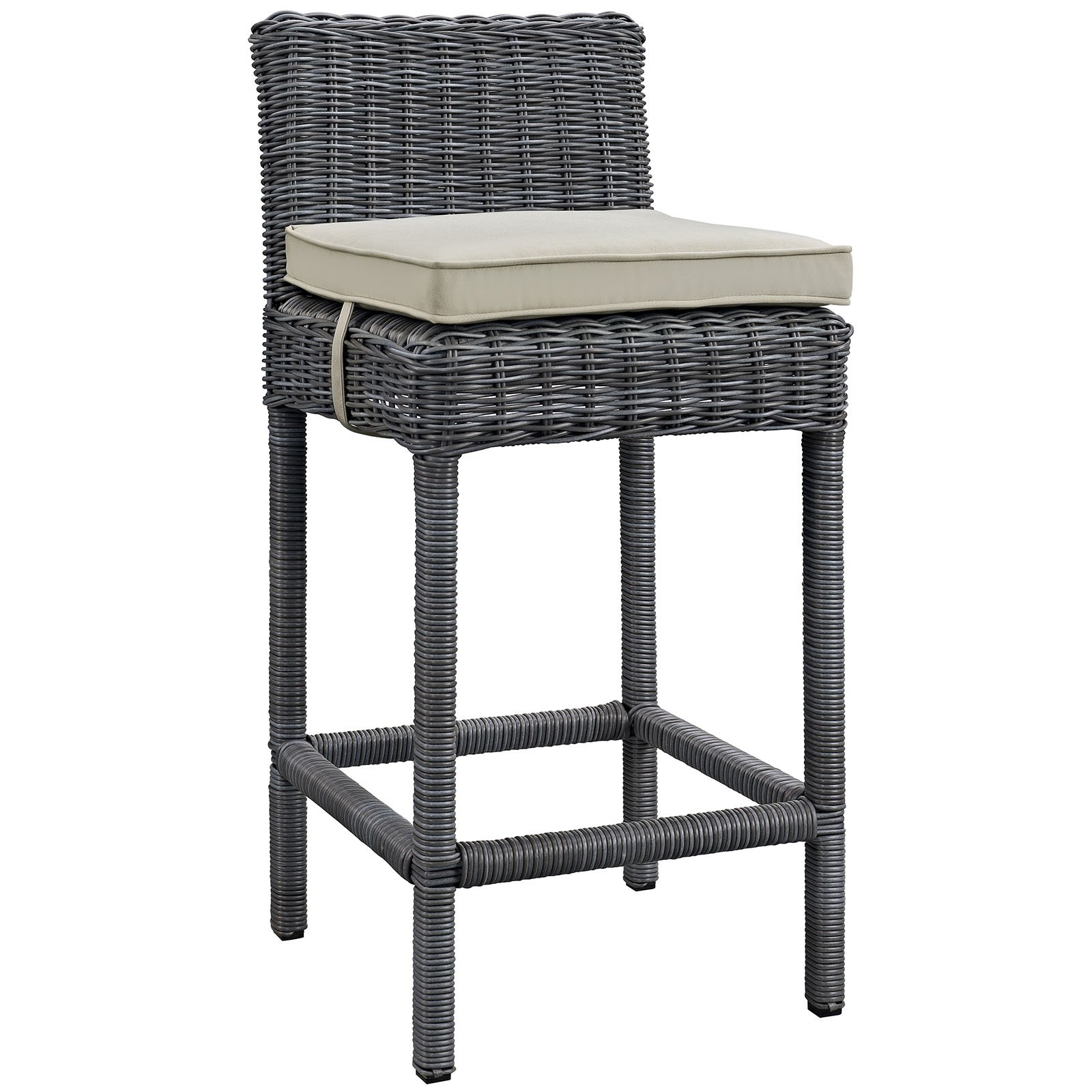 Modway Summon Outdoor Patio Sunbrella Bar Stool, Multiple Colors