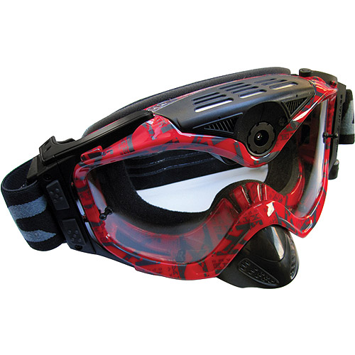 "Liquid Image Impact Series HD 1080p Off-Road Goggle with Full HD Camera, 4000 x 3000 Image Resolution, 1/3.2"" CMOS Sensor, Red"