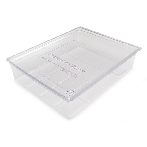 Protect N Store Box Clear 8.5X11 Acid Free
