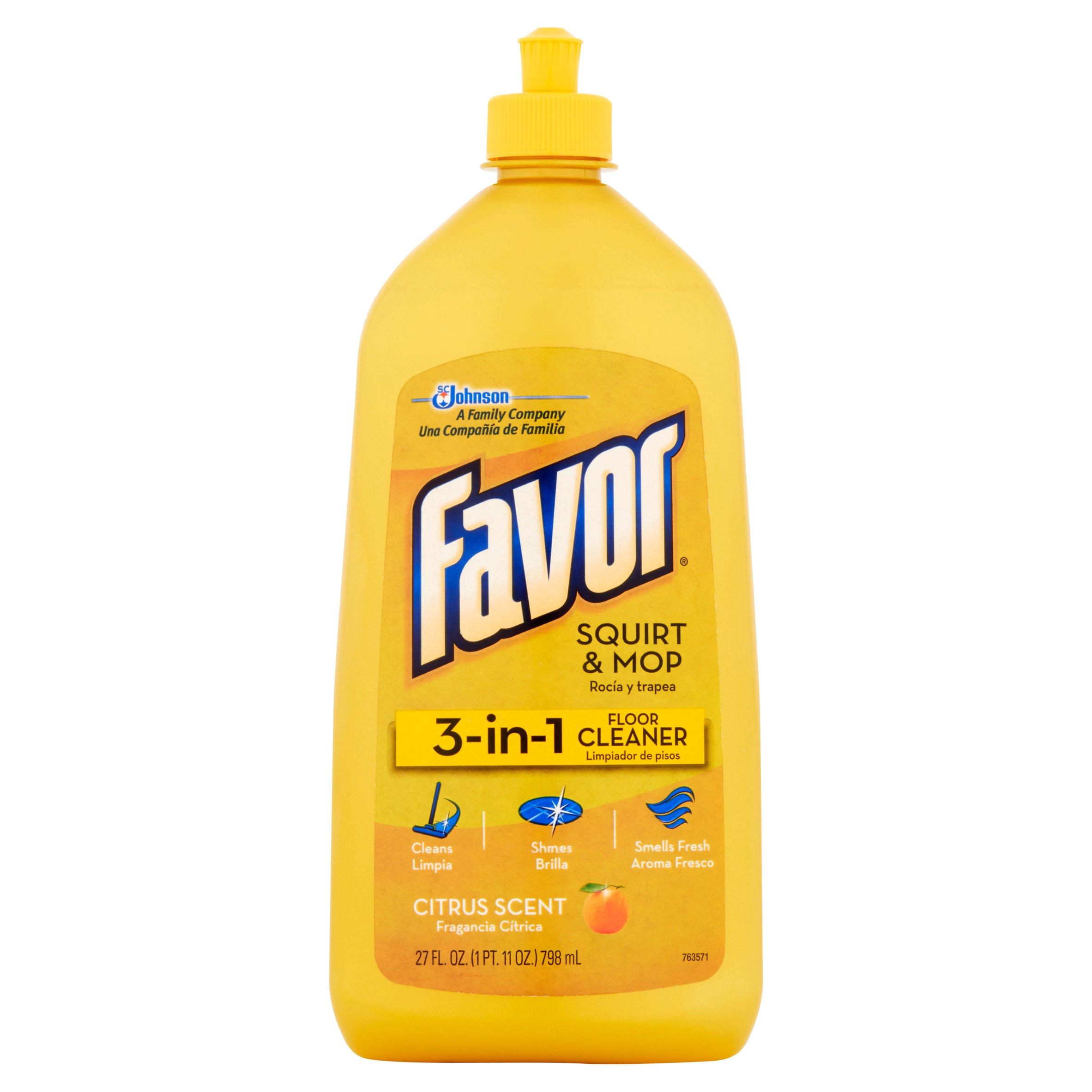 Favor 3 In 1 Citrus Scent Squirt U0026 Mop Floor Cleaner, 27 Fl Oz   Walmart.com