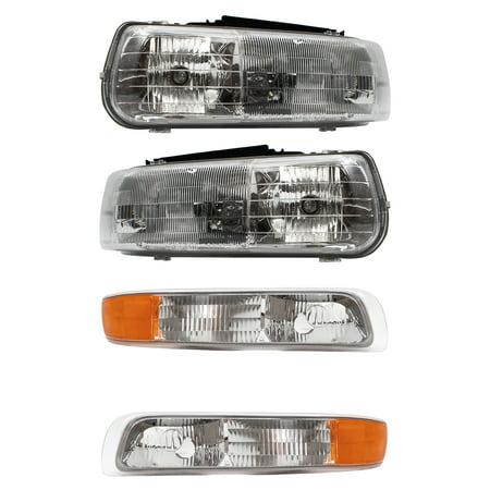Chevrolet Tahoe Interior (BROCK Headlights w/ Signal Side Marker Lamps New 4 Piece Set for Chevrolet Silverado Suburban Tahoe)