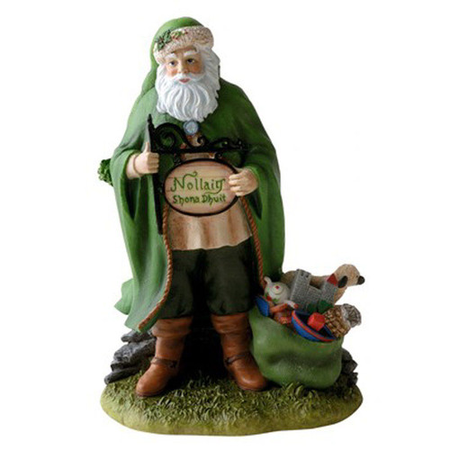 Precious Moments Irish Christmas Santa Mini Figurine