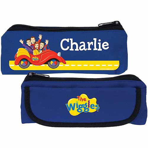 Personalized The Wiggles Big Red Car Blue Pencil Case