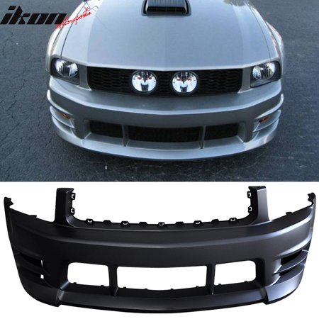 Ford Thunderbird Bumper Cover (Fits 05-09 Ford Mustang V6 Racer Style Front Bumper Cover Conversion Kit -)