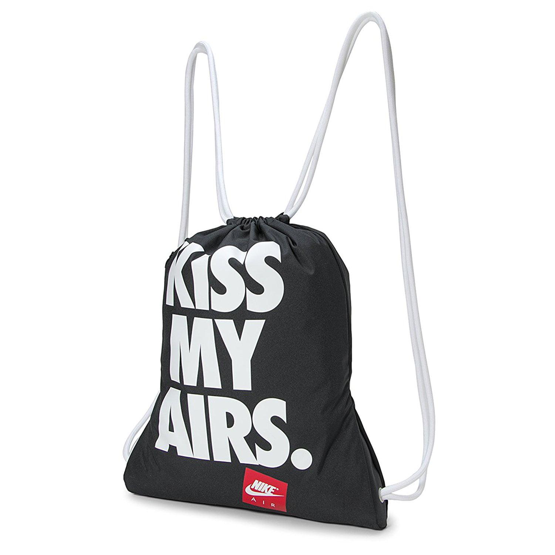 recomendar Correctamente eco  Nike Kiss My Airs Blue Gym Bag Sack Drawstring Gymsack Training School New