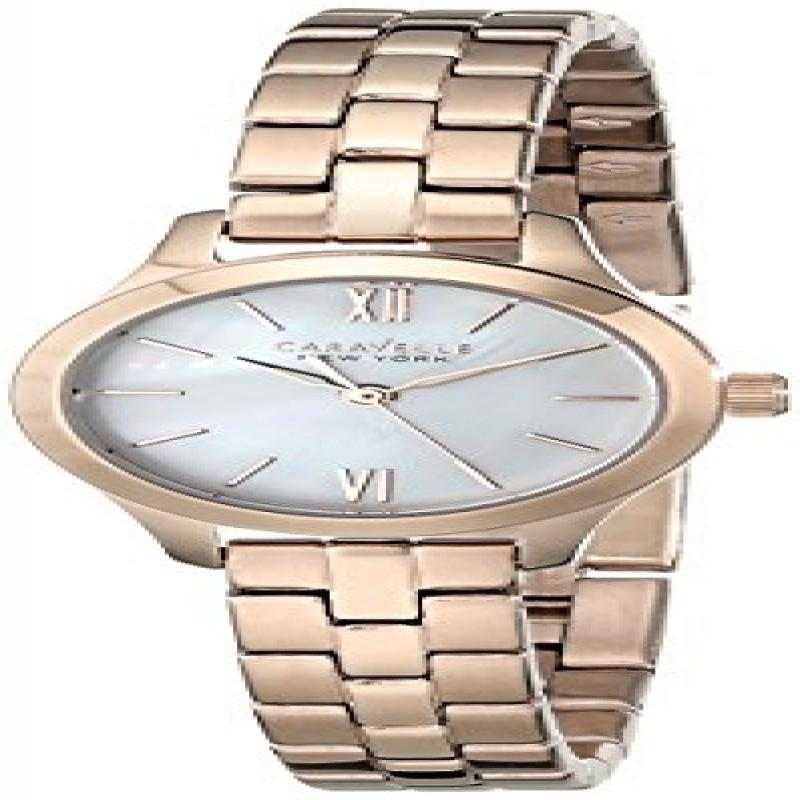 Caravelle Ny Women's Rose-Tone Stainless Steel White Mother Of Pearl Dial Movement: Quartz