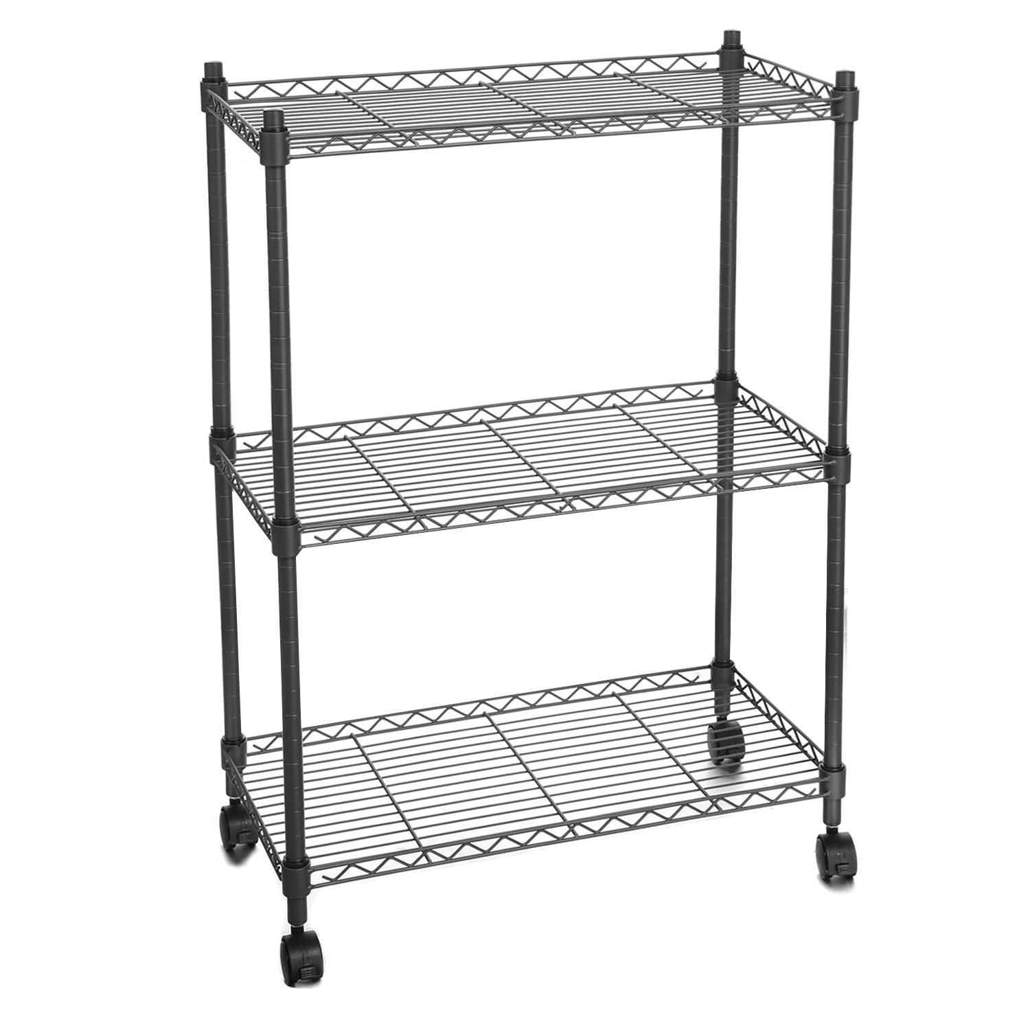 3 tier cart with wheels modern utility hascon 3tier wire shelf shelving unit modern rolling cart rack with wheels hitc