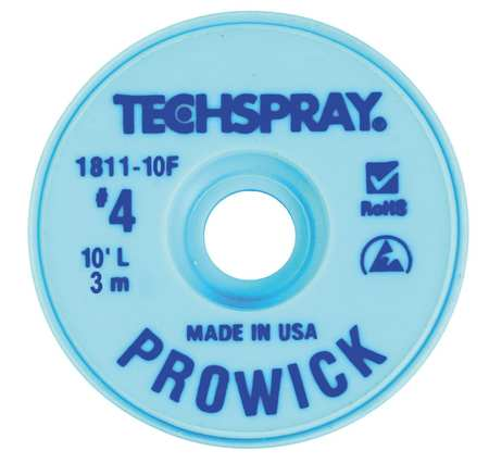 TECHSPRAY 1811-10F Pro Wick Blue #4 Braid - AS
