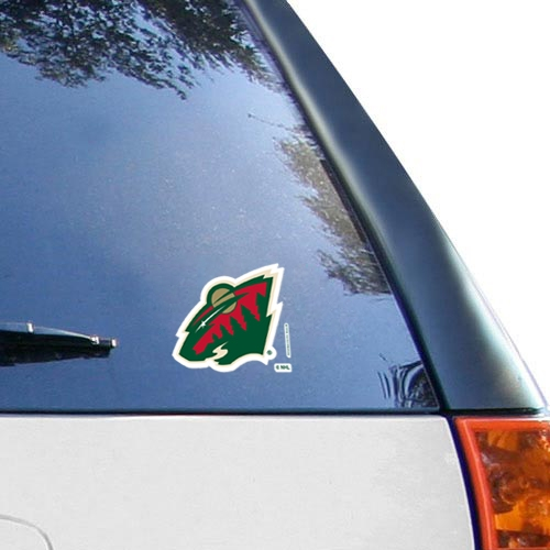 """Minnesota Wild WinCraft 4"""" x 4"""" Color Perfect Cut Decal  - - No Size"""